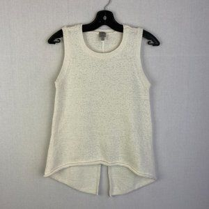 TRISTAN Sleeveless Off-white Knit Sweater